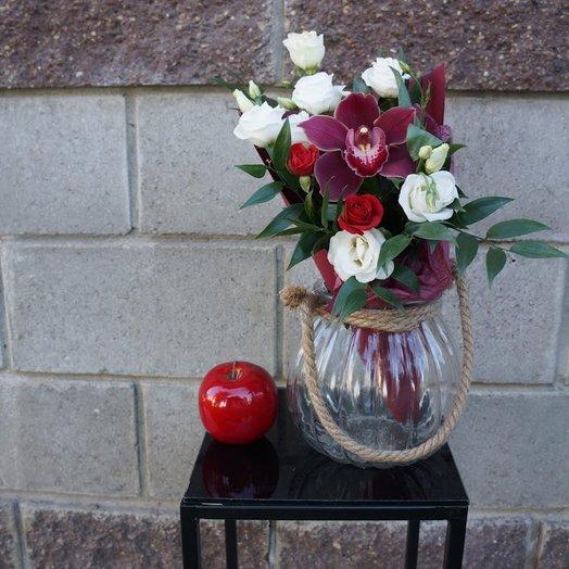 "Конус ""Бордо"": букеты цветов на заказ Flowwow"