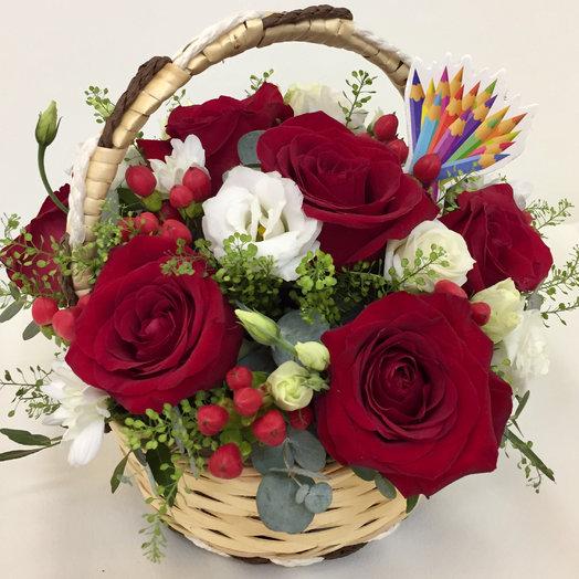 Корзина с розами : букеты цветов на заказ Flowwow