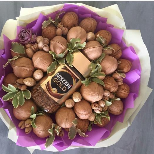Букет из орехов с кофе: букеты цветов на заказ Flowwow