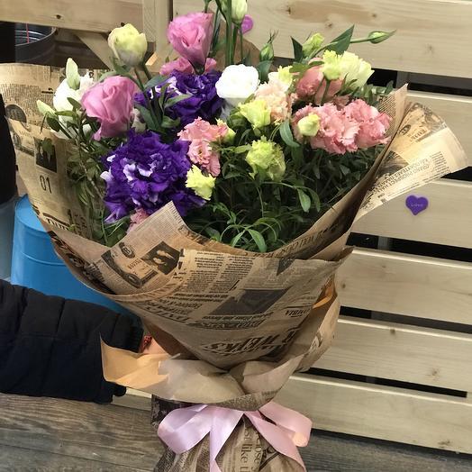 Букет цветных эустом: букеты цветов на заказ Flowwow