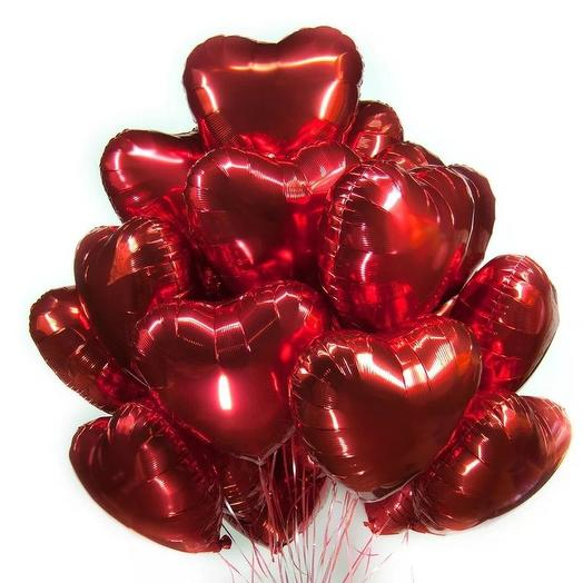 Воздушные шары сердце: букеты цветов на заказ Flowwow