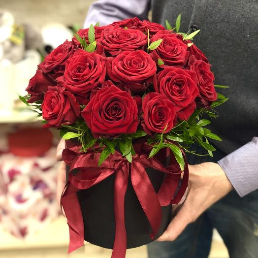 "Box of roses "" Red Luxury"""
