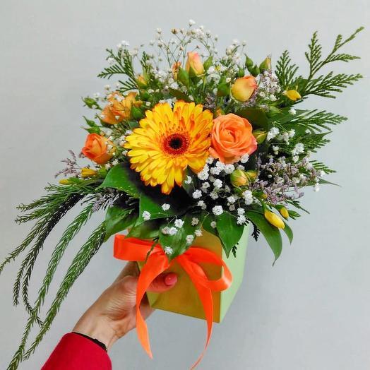 Солнечный комплимент: букеты цветов на заказ Flowwow