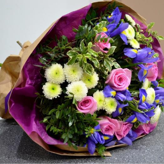 Комплимент в крафте 4: букеты цветов на заказ Flowwow