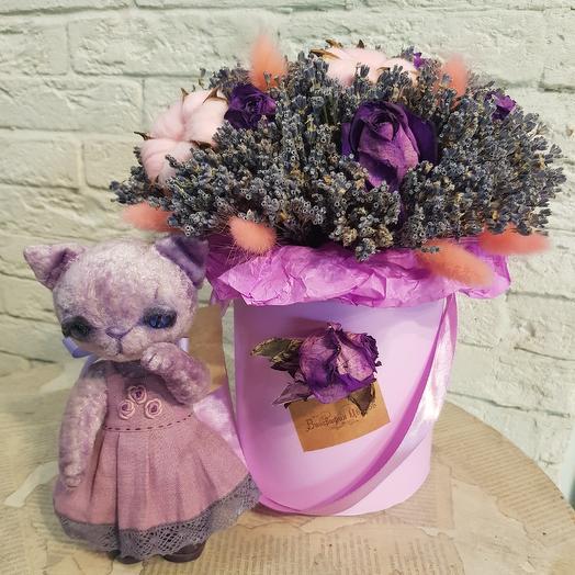 Интерьерная композиция с  настоящей игрушкой Тедди: букеты цветов на заказ Flowwow
