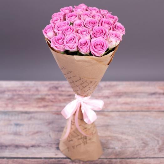 Розы аква в крафте: букеты цветов на заказ Flowwow