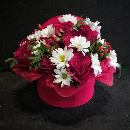 Коробка страсть: букеты цветов на заказ Flowwow