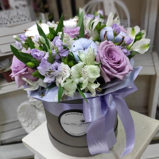 Композиция с хлопком: букеты цветов на заказ Flowwow