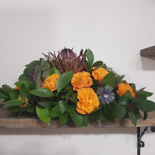 Настольная композиция: букеты цветов на заказ Flowwow
