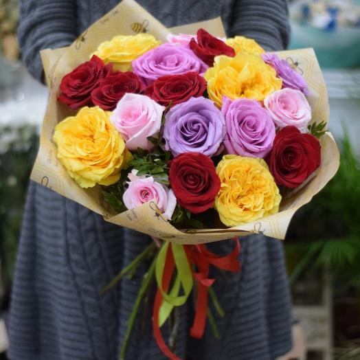 Розы микс 19: букеты цветов на заказ Flowwow