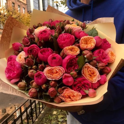 Букет с розами пинк пиано: букеты цветов на заказ Flowwow