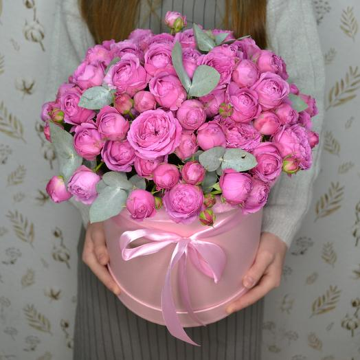 "Шляпная коробка из цветов ""Мисти Баблс"""