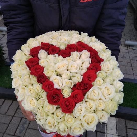 Ты в моём сердце: букеты цветов на заказ Flowwow