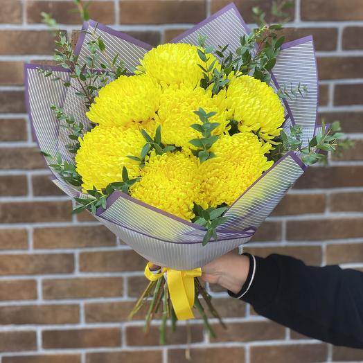 Букет из Хризантемы Петр: букеты цветов на заказ Flowwow