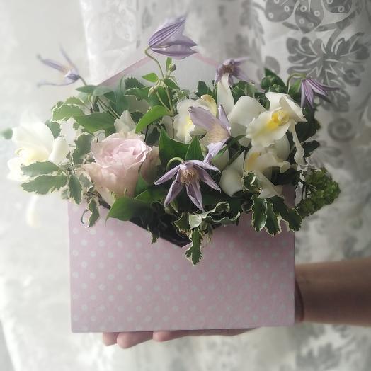 """Композиция""""Любовное послание"""": букеты цветов на заказ Flowwow"""
