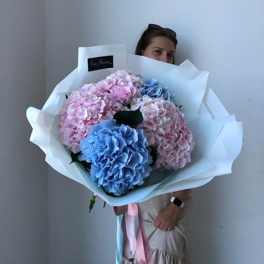 Букет пышных Гортензий: букеты цветов на заказ Flowwow