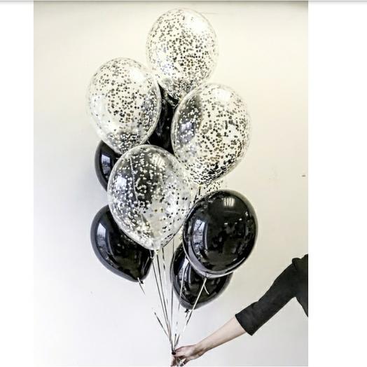 Стильные черные шарики
