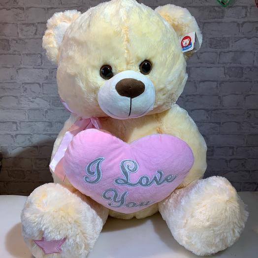 Медведь с сердцем, 50см