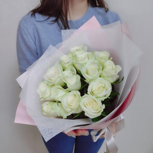 ✅ Букет белых роз 15