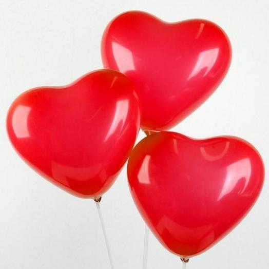 Шары-сердце, 3шт