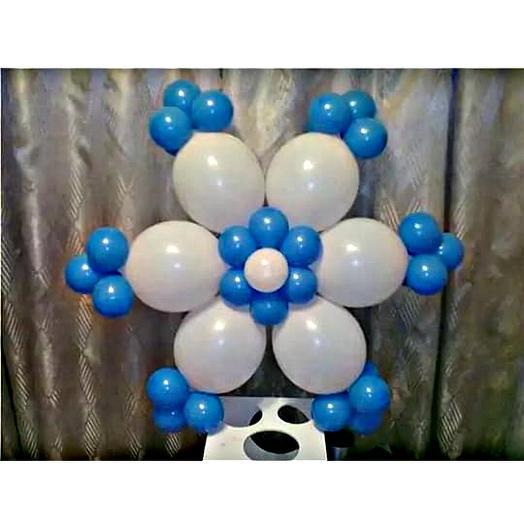 Снежинка из шаров. 3 штучки в наборе