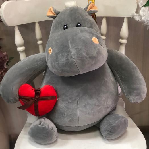 Мягкая игрушка «Бегемот с сердцем»