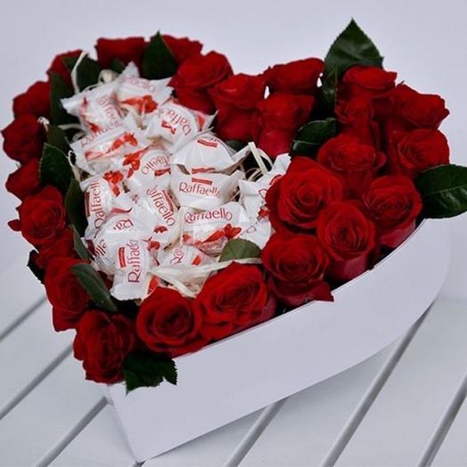 Розы и Рафаелло