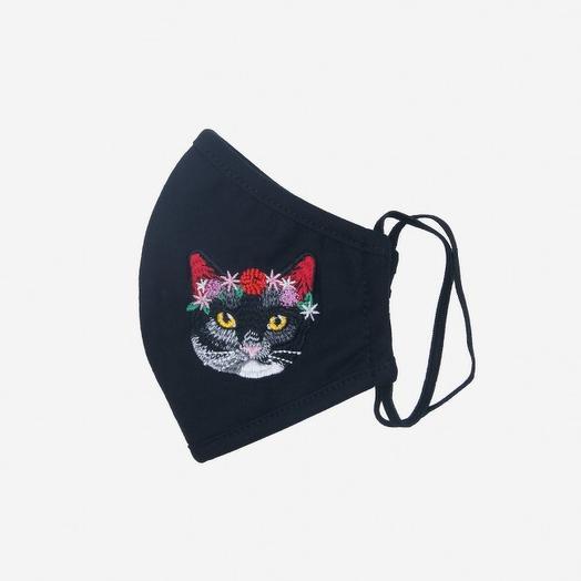 """Тканевая маска """"Котик с цветами"""""""