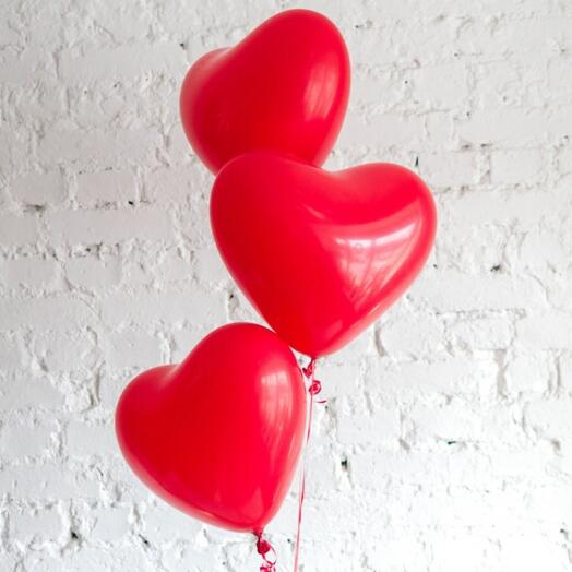 Шар-сердце латексный