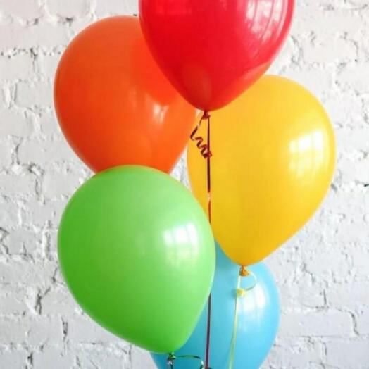 Набор из 5 разноцветных шаров