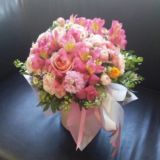 """Цветы в коробке """"Анабель:"""
