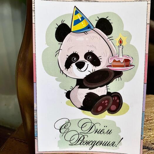 Панда поздравляет с днём рождения