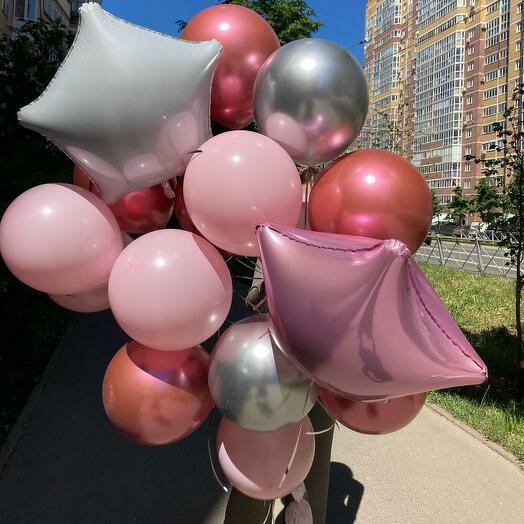 """Набор шаров """"Розовые облака"""""""