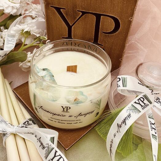 Массажная ароматическая свеча «Лемонграсс и ландыш»