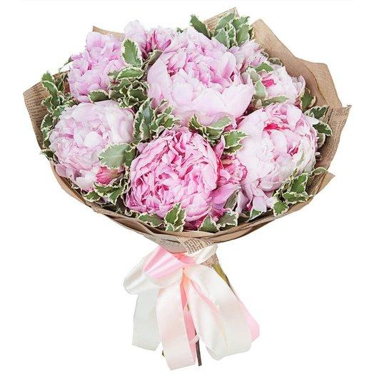 Букет пионов Подарок ангела: букеты цветов на заказ Flowwow