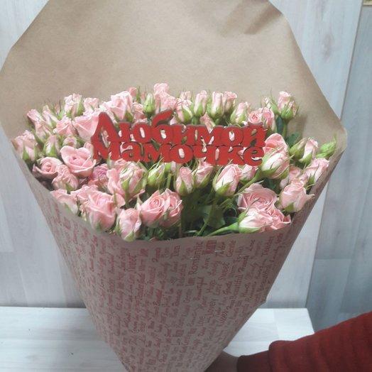 Букеты из 29 штук кустовой розы: букеты цветов на заказ Flowwow
