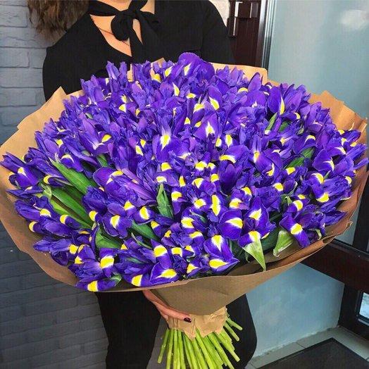 101 Синий ирис: букеты цветов на заказ Flowwow