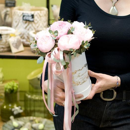 """Розы в шляпной коробке """"Великолепие вкуса"""": букеты цветов на заказ Flowwow"""