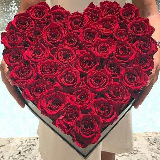 Коробка Мое Сердце: букеты цветов на заказ Flowwow