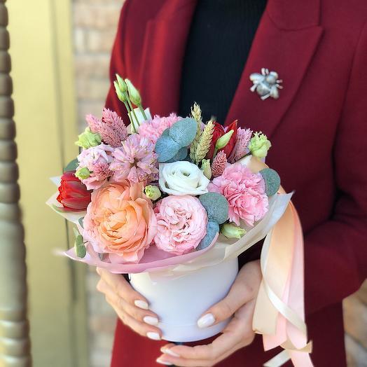 Коробочка нежная mini: букеты цветов на заказ Flowwow