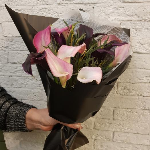Стильные каллы: букеты цветов на заказ Flowwow