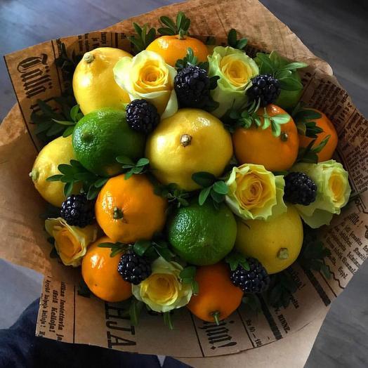 Фруктовый букет «витамины»: букеты цветов на заказ Flowwow