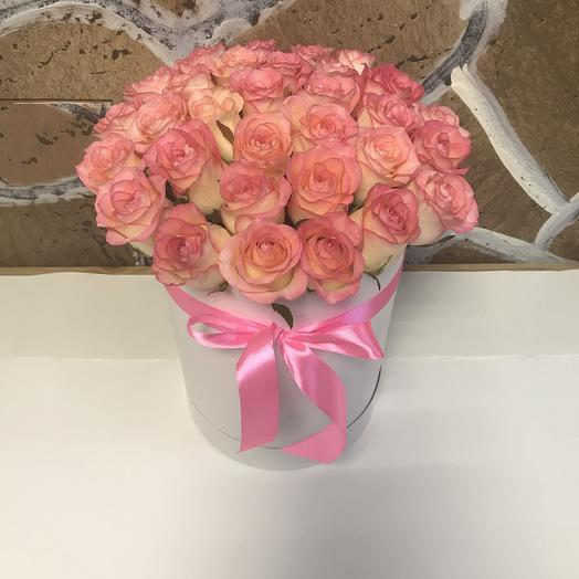 Коробка с розами «Джумилия»: букеты цветов на заказ Flowwow