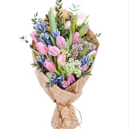 """Букет тюльпанов """"Весенний аромат"""""""
