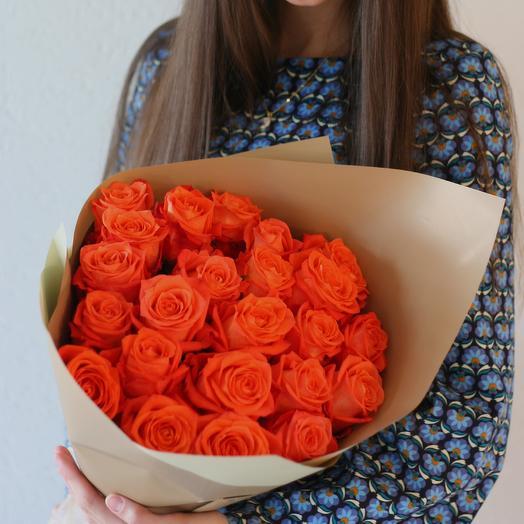 Яркий букет роз Orangine: букеты цветов на заказ Flowwow