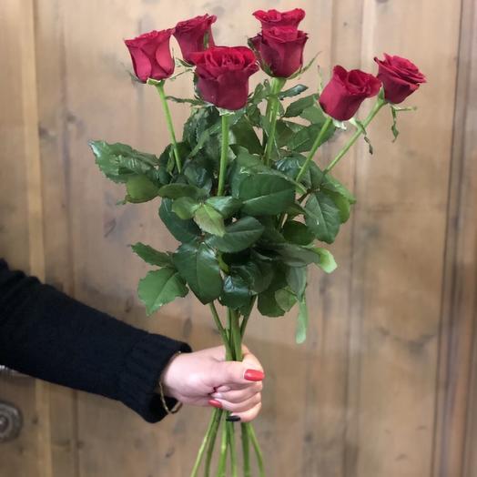"""Букет роз """"7 бордовых розочек"""""""