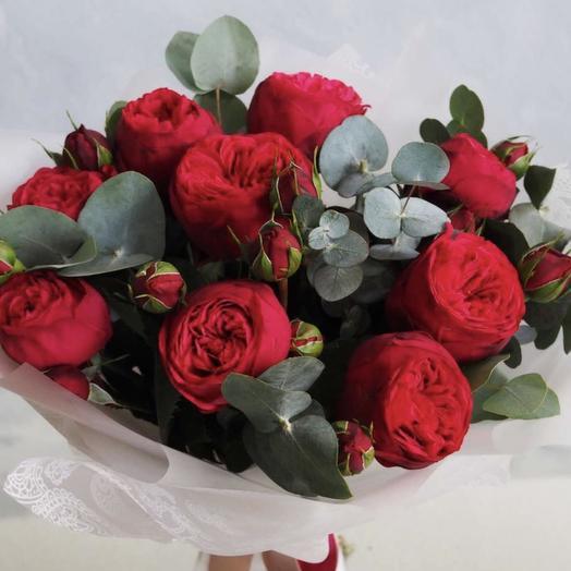 Моей Любимой красная Роза пион