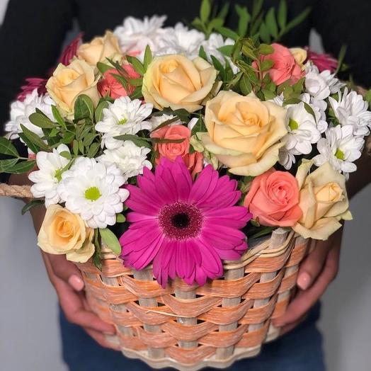 Корзинка про лето: букеты цветов на заказ Flowwow