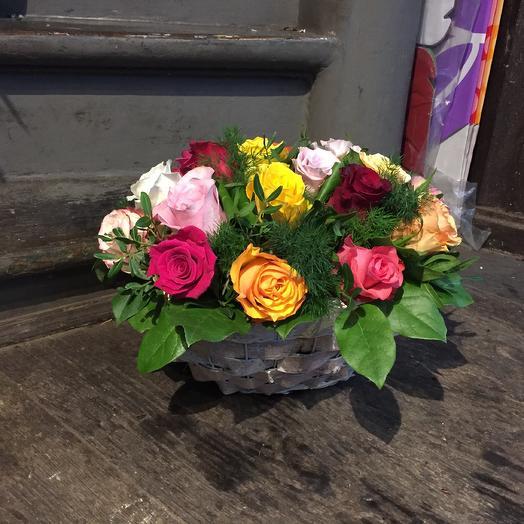 Basquet mix roses