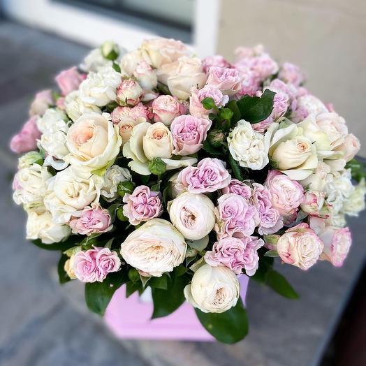 Коробка с зефиром: букеты цветов на заказ Flowwow